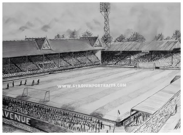 Bradford Park Avenue Pencil Drawing Print On 20 X 30