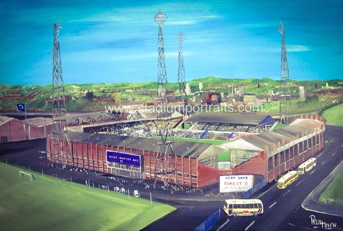 Leeds Utd Elland Road 20 X 30 Box Canvas
