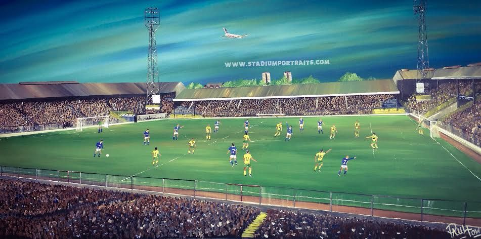 Millwall V Norwich The Old Den 1980 S 20 X 30 Box Canvas